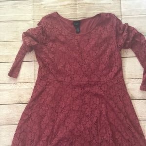 Rue + Fit & Flare Lace Dress